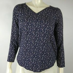 Everly Small Floral Blue Top